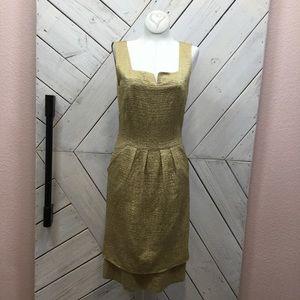 Oscar De La Renta Gold Dress
